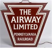 "Pennsylvania RR ""The Airway Limited"" Drum Head"