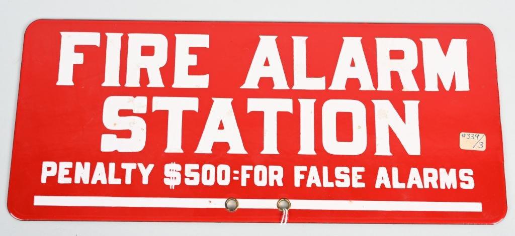 Fire Alarm Station Porcelain Sign