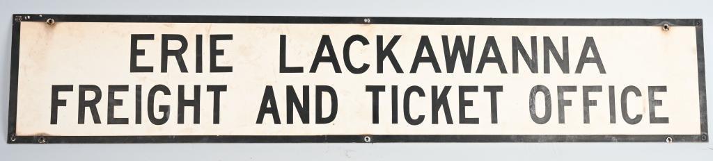 Erie Lackawanna Freight & Ticket Office Sign