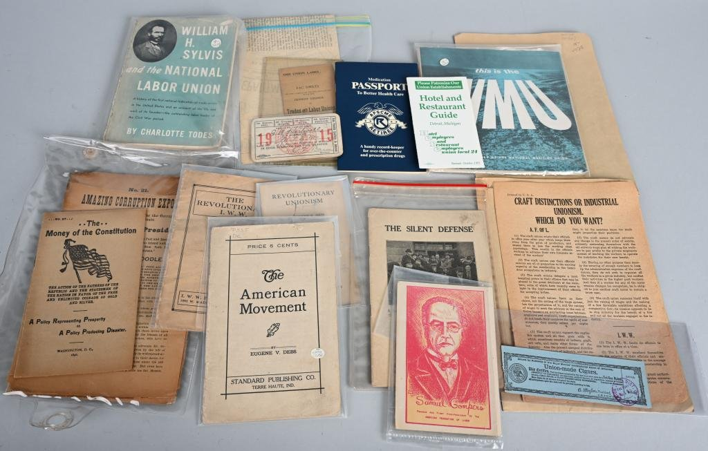 15 EARLY LABOR UNION RELATED BOOKLETS & PAMPHLETS