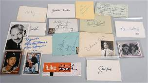LOT OF 17 MISC MALE AUTOGRAPHS SPORTS MOVIES