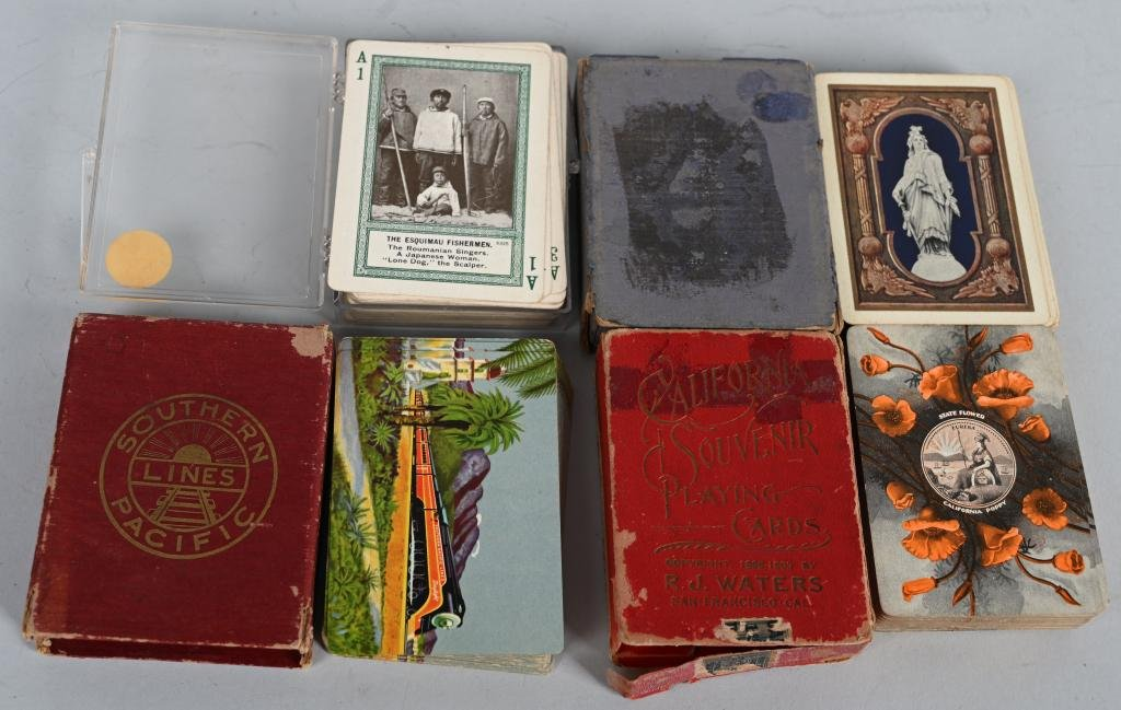 4- EARLY DECKS OF PLAYING CARDS