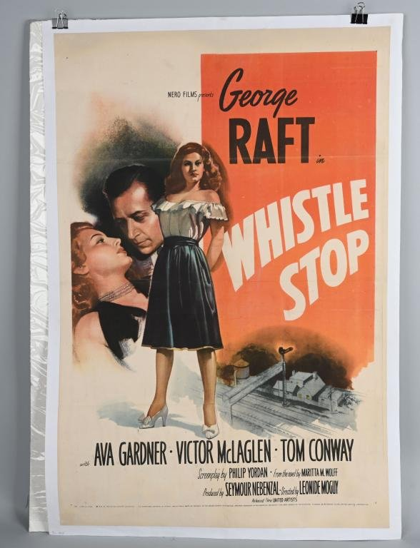 1946 WHISTLE STOP MOVIE POSTER