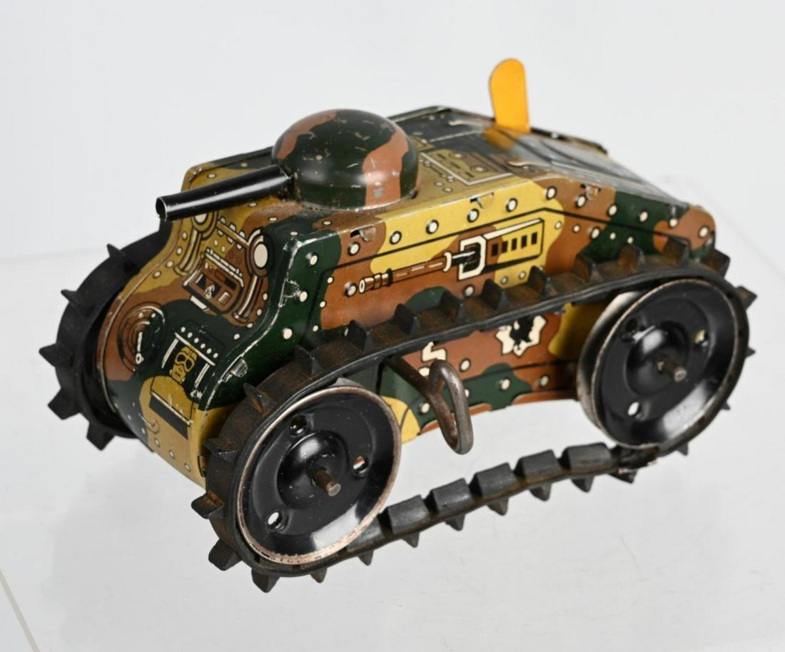 MARX 1930's Tin Windup TOY ARMY TANK
