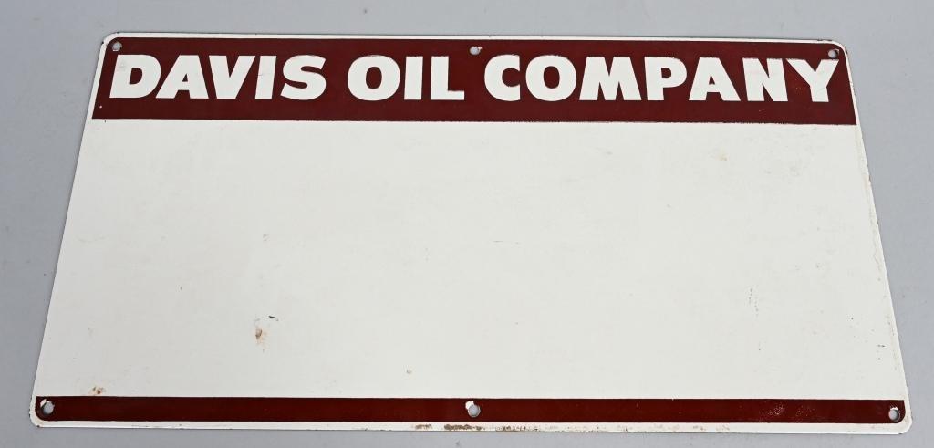 DAVIS OIL COMPANY PORCELAIN SIGN