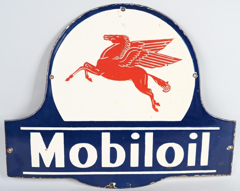 MOBILOIL PEGASUS DIECUT PORCELAIN SIGN