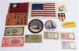 WWII US ID'ed CBI FLYING TIGER BLOOD CHIT GROUPING