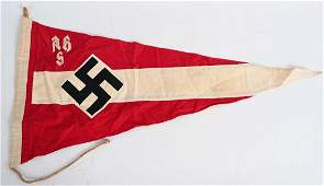 WWII NAZI GERMAN HITLER YOUTH PENNANT FLAG