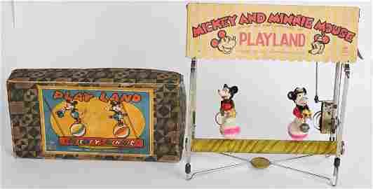 MICKEY & MINNIE MOUSE WINDUP PLAYLAND w/ BOX