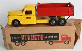 STRUCTO PRESSED STEEL DUMP TRUCK w BOX