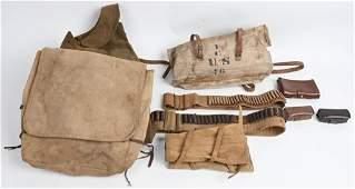 M1902 CANVAS FIELD GEAR & UNIFORM IEMS LOT WWI