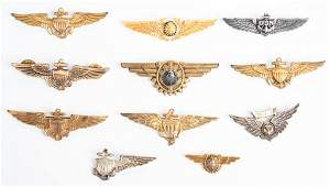 WWII US NAVAL MARINE CORPS WINGS LOT OF 11 WW2