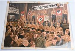 WWII NAZI GERMAN PRO HITLER AND NAZISM POSTER WW2