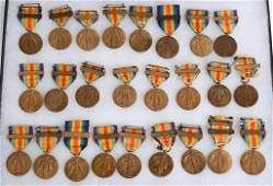 WW1 US NAVAL VICTORY MEDAL LOT OF 25 WWI