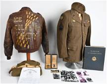 WWII US 8TH FORCE A-2 PAINTED FLIGHT JACKET GROUP