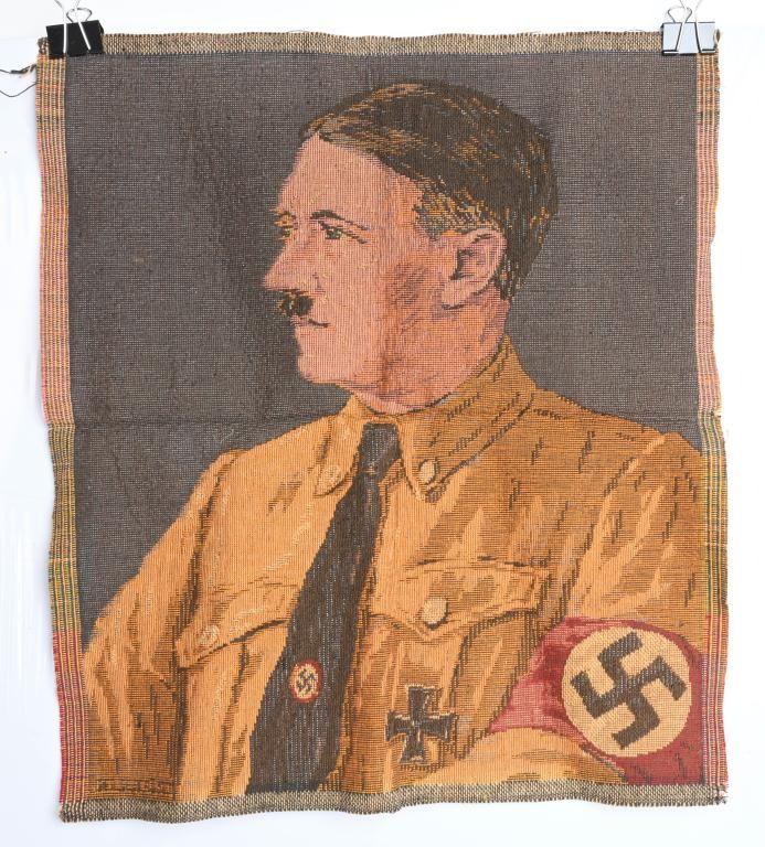 WWII NAZI GERMAN ADOLF HITLER TAPESTRY WW2