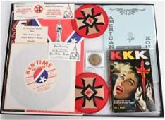 KU KLUX KLAN RECORD PAPER AND BUSINESS CARD LOT