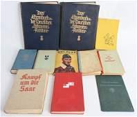WWII NAZI GERMAN LOT OF PERIOD 11 BOOKS WW2