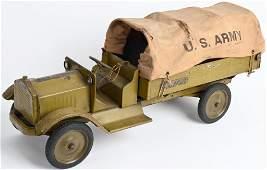 KEYSTONE PRESSED STEEL US ARMY TRANSPORT TRUCK