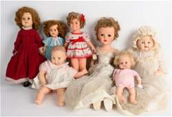 LOT (7) SHIRLEY TEMPLE, DIMPLES, BRIDE, BABY DOLLS