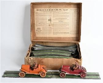 OUTSTANDING BOXED 1911-1915 LIONEL SLOT CAR SET