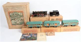 LIONEL #392E STD GA PASSENGER TRAIN SET w/ BOX