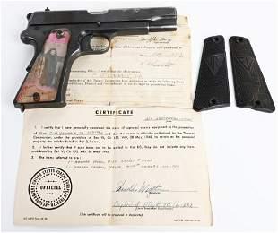 WW2 CAPTURE POLISH RADOM PISTOL WITH PAPERWORK