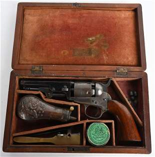 CASED NEW YORK COLT MODEL 1849 POCKET MODEL
