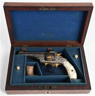 CASED FACTORY ENGRAVED S&W