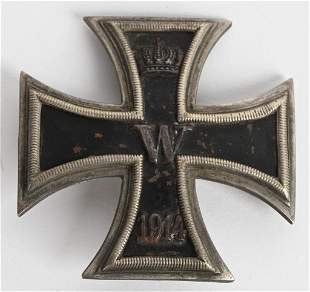 WW1 IMPERIAL GERMAN IRON CROSS 1ST CLASS WWI