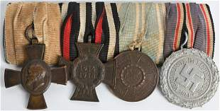 WW1 WWII NAZI GERMAN 4 PLACEMENT MEDAL MEDAL BAR