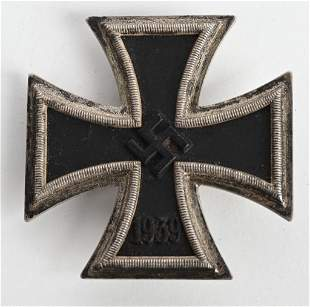 WWII NAZI GERMAN 1ST CLASS IRON CROSS #20 EKI WW2