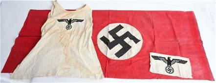 WWII NAZI GERMAN WEHRMACHT ATHLETIC SHIRT  FLAG