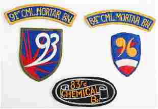 WWII US ARMY CHEMICAL MORTAR BATTALION PATCH LOT