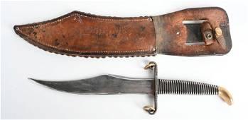 WWII NAMED CUSTOM MADE NICHOLS FIGHTING KNIFE