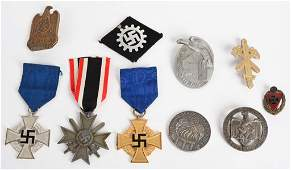 WWII NAZI GERMAN BADGE LOT NSDAP HJ NSKOV WW2