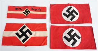 WWII NAZI GERMAN HJ NSDAP PARTY ARMBAND LOT WW2