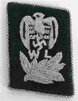 WWII NAZI GERMAN LUFTSCHUTZ OFFICER COLLAR TAB WW2