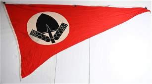 WWII NAZI GERMAN RAD PENNANT OR FLAG WW2