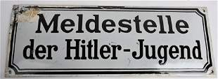 WW2 NAZI GERMAN MELDESTELLE DER HITLER JUGEND SIGN