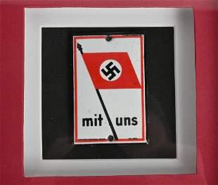 WWII NAZI GERMAN NSDAP SUPPORTER DOOR PLAQUE