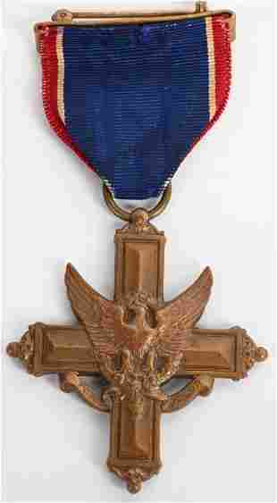 WWII NUMBERED DSC MEDAL W WRAPPED BROOCH 13998