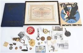 WWII MARINE CORPS GROUPING  AAF ITEMS