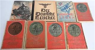 WWII NAZI GERMAN ORIGINAL BOOK LOT OF 8 NSKOV WW2