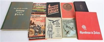 WWII NAZI GERMAN BOOK LOT OF 8 MOUNTAIN TROOPS WW2