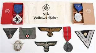 WWII NAZI GERMAN INSIGNIA MEDAL GROUP RAD HEER KM