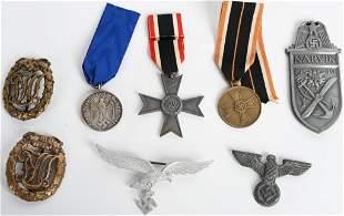 WWII GERMAN NAZI MEDAL LOT NARKIK SHIELD SA LUFT