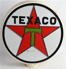 TEXACO LEADED GLASS GAS GLOBE