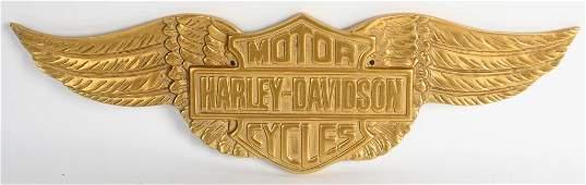HARLEY DAVIDSON CAST GOLD WINGS SIGN