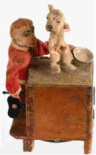 GERMAN WINDUP MONKEY ORGAN GRINDER & DOG